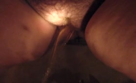 My hairy pussy pee in bathtubs showers