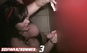 GB Schlampe - Glory Hole 6 Cumshots