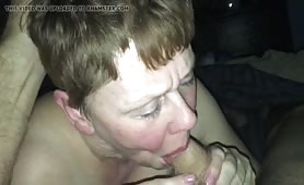 Useless Beth Sucks Master's Cock and Swallows