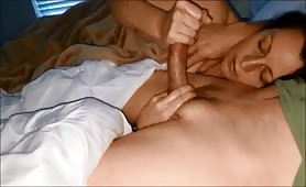 Surprise Cum Explosion Slow Handjob and Tip Sucking