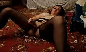 Russian Wife Orgasm with Dildo