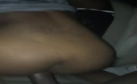 Fucking in the Car while her Dude in the House
