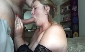 Homemade Blowjob, Facefuck, Rimming & Facial looking at the Mirror