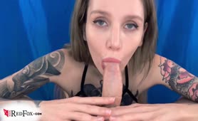 Blowjob Dick Student and Jerk off in Lingerie