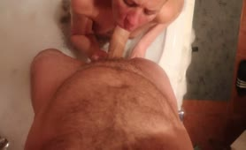 POV- Seduced my Tinder Date to Blow me - she Fingers my Ass and Swallow Cum