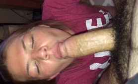 Cum in mouth blowjob