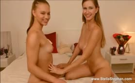 Stella and Mia Satisfy themselves with a Dildo