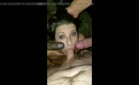Hot wife being shared by husbands friends