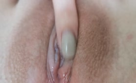 Close up Fingering Tight Wet Pussy until she Cums I Close up Pussy and Clit