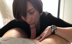 Sweet Milf Milks A POV Dick With Her Lips And Hands