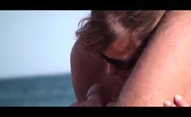 French Nudist Couple Doing A Hand And Blowjob In Public Beach