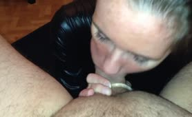 My Wife Rimming Eat Tongue Deep Tight my Hole with Blowjo