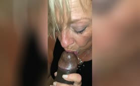 Blonde GILF Blows a BBC