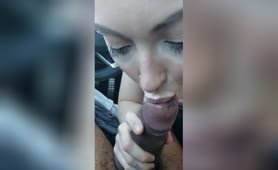 White Girl Sucks out BBCum for Cream for her Coffee