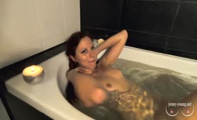 Beauty Plays with Big Pussy Lips, Sucks, Takes a Golden Shower and Drinks Piss