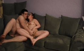 Chubby Teens Fuck on Couch